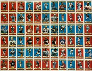 """1988 Topps Football UNCUT SHEET, 66 Super Star CARDS, 18""""x 24"""", can be framed"""