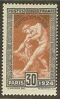 """Francia Stamp Francobollo N° 185 """" Giochi Olimpici 30c Paris 1924 """" Nuovo Xx Ttb"""