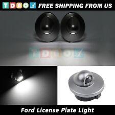2pcs License Plate Cover Lens w/ White T10 LED Light for 1980-1996 Ford Bronco