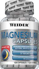 Weider Magnesium Caps Dose mit 120 Kapseln Sonderpreis wegen MHD (8,64€/100g)