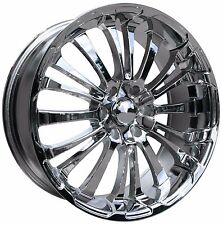 (1) HD Wheels Rims SPINOUT 22x9.5 5x139.7 et15 Chrome DODGE RAM 1500