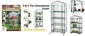 3 & 4 Tier Greenhouse Garden Plants Grow Green House High Quality PVC Cover