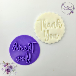 Thank You Embosser Stamp for Fondant Cupcake Cake Cookie Cookies