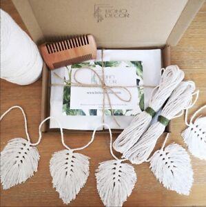 DIY Macrame Kit - Bunting Kit - Wall Hanging - Boho Decor UK - Beginner Craft