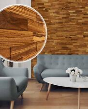 wodewa 3D Echtholz Holz Wandverkleidung ZEBRANO natur Holzpaneele Wandgestaltung