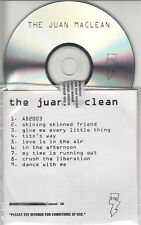 THE JUAN MACLEAN  Less Than Human 9-track watermarked & numbered promo test CD