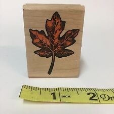 Rubber Stampede Stamp Maple Leaf #272D Single Wood-Mounted Fall Autumn Tree