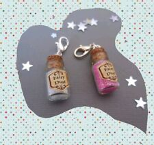 Fairy dust clip on bottle, pink or white sparkle