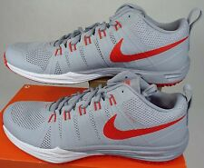 New Mens 15 NIKE Lunar TR1 Grey LT Crimson Run Shoes $110 652808-002