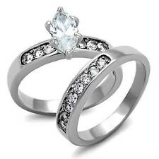 Marquise Stainless Steel Engagement Costume Rings