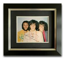 BARRY GIBB HAND SIGNED FRAMED PHOTO DISPLAY - BEE GEES - MUSIC AUTOGRAPH 1.