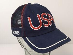 2004 Olympics Souvenir Hat USA Roots Athens Blue Baseball Cap Strapback Canada