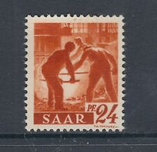 Saar Mi 215ZG MNH. 1947 Workers, Printed on Gum Side