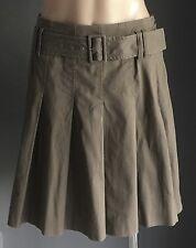 Retro ESPRIT Brown High Waist with Belt Short Pleat Skirt Size 10