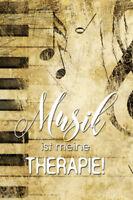 Musik ist meine Therapie Blechschild Schild gewölbt Metal Tin Sign 20 x 30 cm