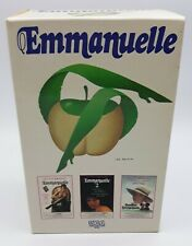 """COFFRET VHS """" EMMANUELLE """" 3 CASSETTES VIDEO TBE FR"""