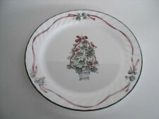 Corelle Callaway HOLIDAY Dinner Plate Christmas Tree Red Ribbons unused 7 avai