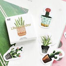 45 pcs/pack Pot Cultured Green Plants Label Stickers DIY Diary Album Stick Label