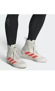 NEW Adidas Speedex 18 Boxing Shoes FU8173 Off-White/Solar Red Size 11