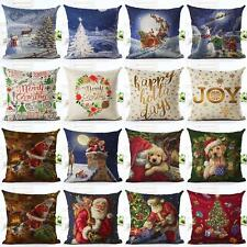 Christmas Cushion Cover Xmas Ambience Decorative Square Pillow Case Car Decor RR