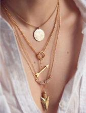 Womens Fashion Jewelry Crystal Chain Chunky Statement Bib Pendant Necklaces