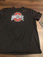 New Nike Mens Ohio State Buckeyes Football Short sleeve Shirt Size Large Black
