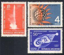 Argentina 1965 Quiet Sun/Rocket/Science/Solar 3v set (n27391)