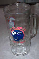 Super Bowl XXI Giants Champions Beer or Soft Drink Glass new