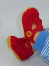 PRINTED INSTRUCTIONS -BABY RETRO (CLARK'S) SANDALS BOOTIES KNITTING PATTERN
