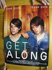 Tegan And Sara Poster Signed By Both Get Along Band Shot &