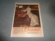 """1944 Chesterfield Cigarettes Vintage Magazine Ad """"He's Coming Home!"""""""