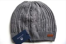 1f13ea72 GANT Charcoal Melange Cable Skull Beanie Toque Hat Unisex New TAGS