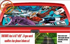 W086 Suiside Squad Harley Quinn Joker Car Rear Window Printed Decal Perforated