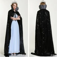 "RED 71/"" Full Length Velvet Satin Cloak Cape Parade Pageant Cosplay Costume"
