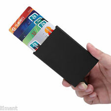 Black RFID Card Holder Pop Up Aluminium Wallet Men Women ID Protector Slim Purse