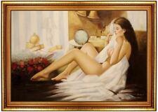Ölbild weiblicher Akt, Porno, nackte Frau, Ölgemälde Nude HANDGEMALT 60x90cm