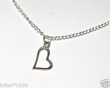 Jewelry 2 in 1 Heart Necklace Heart Necklace; Brand New Silver Fashion