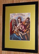"""Incorniciato 12"""" x16"""", El Greco, SACRA FAMIGLIA, i comandanti dipinti, BIBBIA DIPINTI"""
