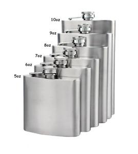 HIP FLASK Stainless Steel Pocket Drink Whisky Flasks Alcohol Gift Steel UK POST