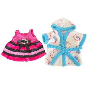 Build A Bear Workshop Hello Kitty Accessories Lot - Dress, Robe
