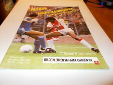 More details for ajax v real zaragoza 86/87 european cup winners cup semi final