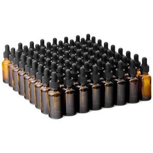 The Bottle Depot Bulk 72 Pack 1 oz Glass Bottles With Dropper; 7 Colors Avlb