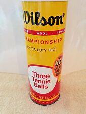 Vtg Can Wilson Championship 3 Optic Yellow Tennis Balls, Extra Duty Felt, Sealed