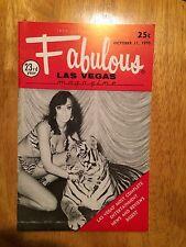 Fabulous Las Vegas Magazine Sony & Cher Denise Montego Howard Cannon 10/17/1970