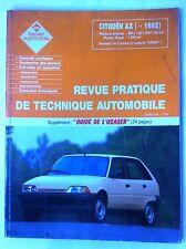 RTA du 12/1993; Citroën BX 14-14 E-144 RE-16 RS- 16 TRS