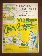 """SPARTITO MUSICALE CON COPERTINA DELLA WALT DISNEY """" TICO- TICO NO FUBA' """" 1941"""