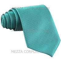 New polyester formal Vesuvio Napoli stripes neck tie prom Turquoise blue
