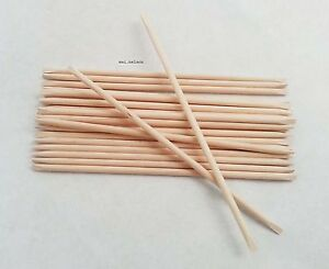 20 x ORANGE WOOD STICKS - CUTICLE STICK Calluses Remover Natural Manicure Nails