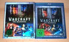 WARCRAFT - THE BEGINNING 3D, Blu Ray, 2 Disc Set mit Holo Pappschuber