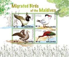 Maldives - Birds/Tufted Duck Stamp - Sheet of 4 MNH
